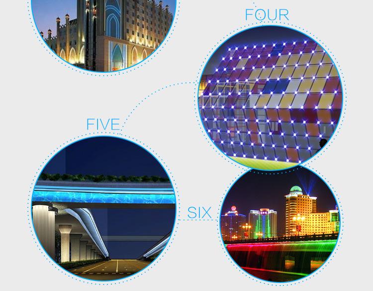 户外亮化工程专用LED线条灯条硬灯条线形铝 壳护栏管示例图11