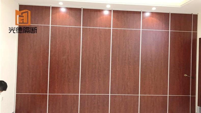 铝合金酒店活动隔断 活动屏风隔断墙 宴会厅折叠移动隔音墙定制示例图8