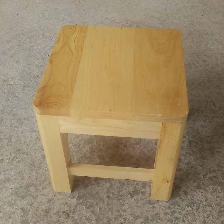 鑫繁木业直销柏木家用小方凳适用凳子实木幼儿园儿童小板凳木凳示例图2