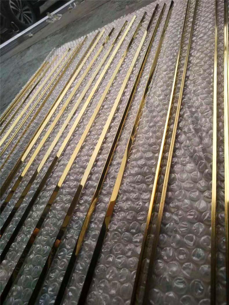 镜面玫瑰金T型条瓷砖收边条嵌入式钛金装饰条软包线条  厂家定制示例图13