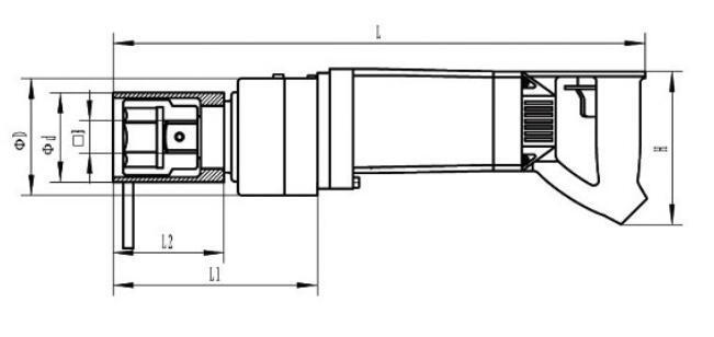 桥梁螺栓电动扭矩扳手 钢结构螺栓电动扭矩扳手 1000N电动扳手示例图4