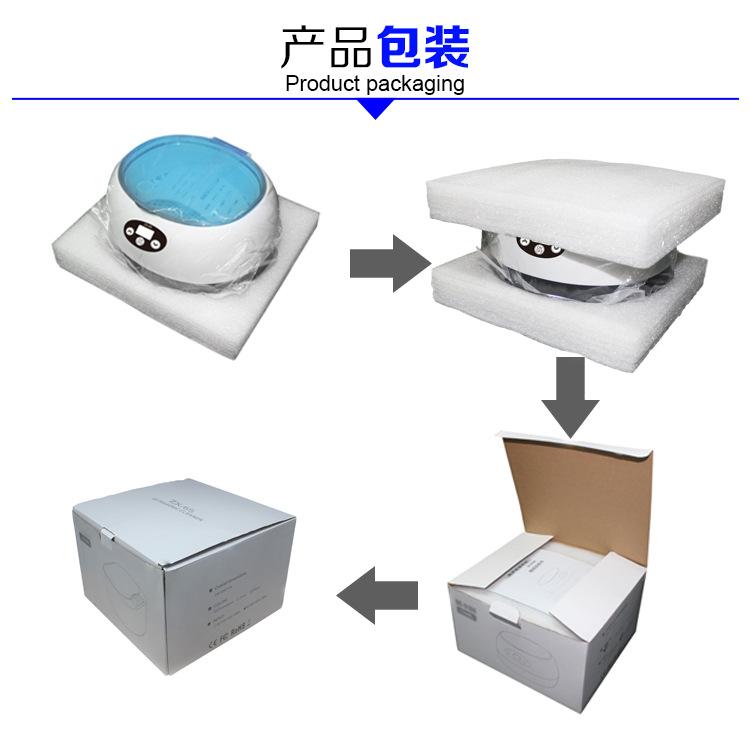 上海知信ZX-6S小型超声波清洗机 眼镜首饰迷你家用超声波清洗仪器示例图6