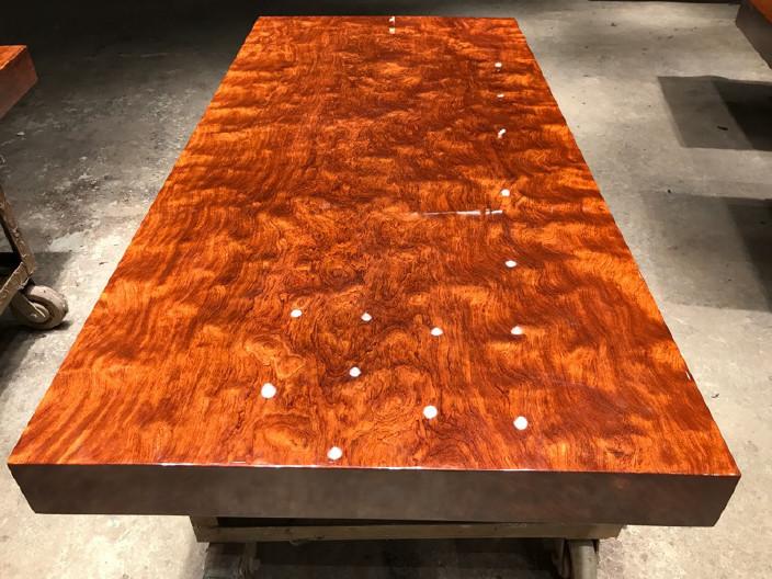 现货巴花大板竞技宝和雷竞技哪个好大板桌家用奥坎黄花梨办公桌原木大板台餐桌示例图15
