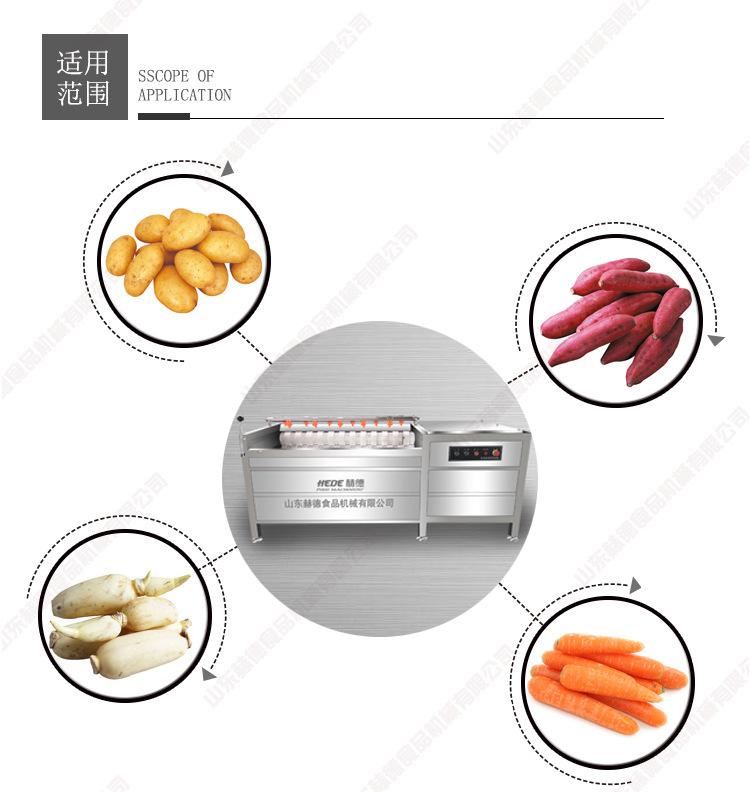 北瓜去皮機 毛刷翻滾式芋頭去皮機 大型果蔬去皮機專家 赫德機械示例圖7