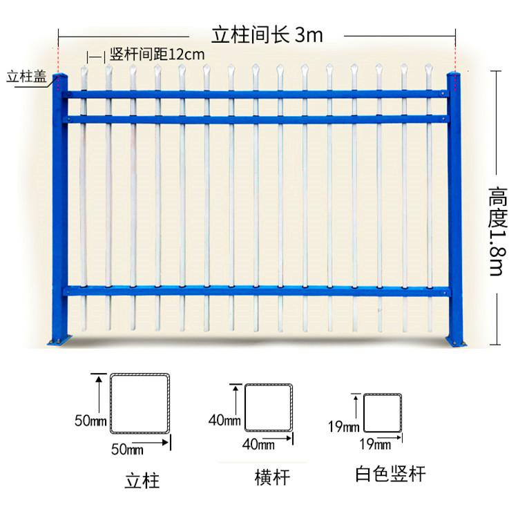 镀锌钢管栏杆 铁艺围墙栏杆  锌钢护栏网厂家直销 价格美丽示例图29