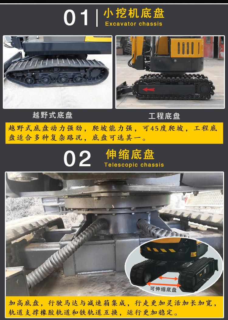 市政绿化用小勾机 小挖机型号价格 多种功能微型挖掘机 现货低价销售示例图12