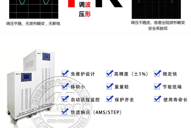 江苏山崎马扎克MAZAK系列机床稳压器30KW/40KW/50KW 三相分调式稳压电源ZBW-50KVA示例图28