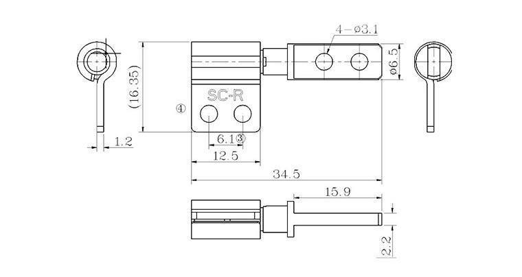 笔记本阻尼转轴0度自锁 左右对称 包圆转轴美容仪器翻盖铰链SC-865-1示例图4