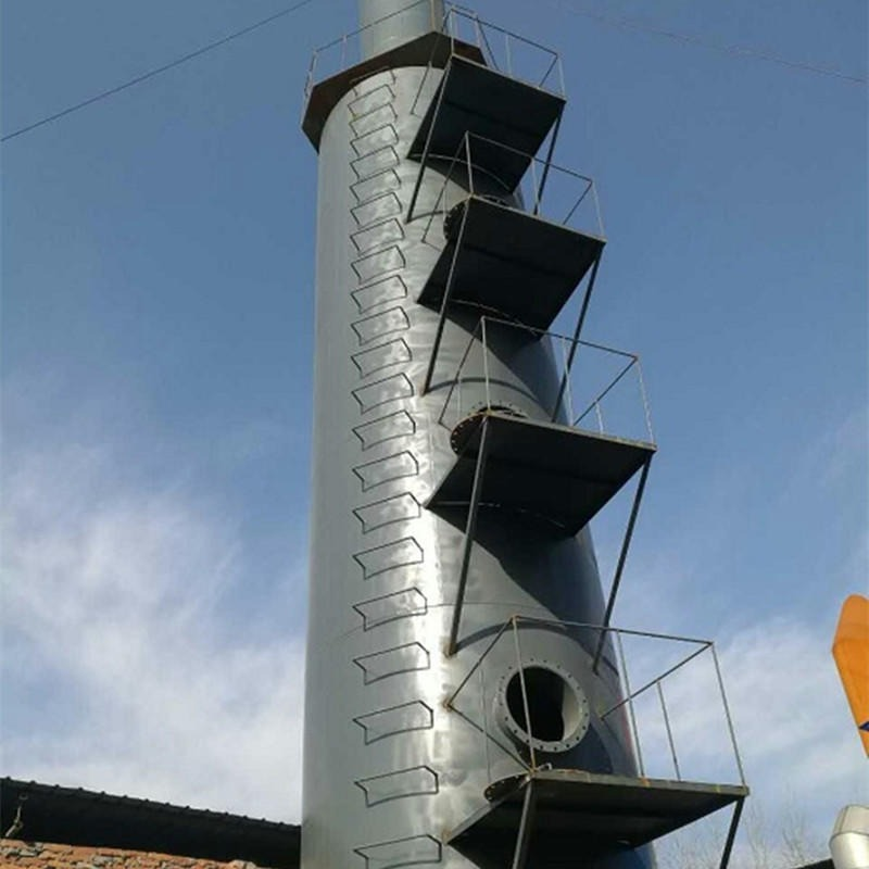 榆次處理風量5萬立方耐材、磚窯碳鋼脫硫塔