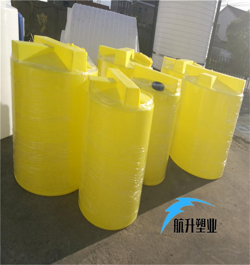 PE加药箱 江西加药桶厂家航升塑业供应1吨污水搅拌加药桶示例图2