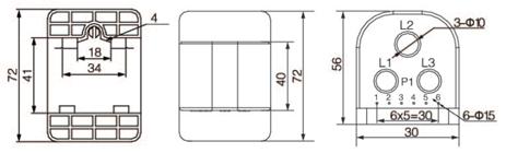 安科瑞,测量型电流互感器,AKH-0.66-60I,额定电流比1000-2500/示例图21
