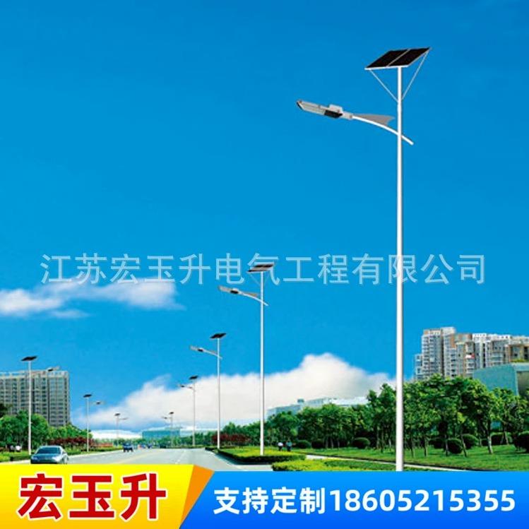 新農村建設LED太陽能路燈 6米戶外一體化太陽能路燈桿廠家直銷