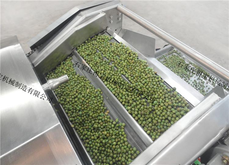 青豆油炸机生产线 得宝 膨化食品油炸 全自动油炸锅  油炸蚕豆、青豆、花生米、兰花豆生产线 厂家直销示例图7