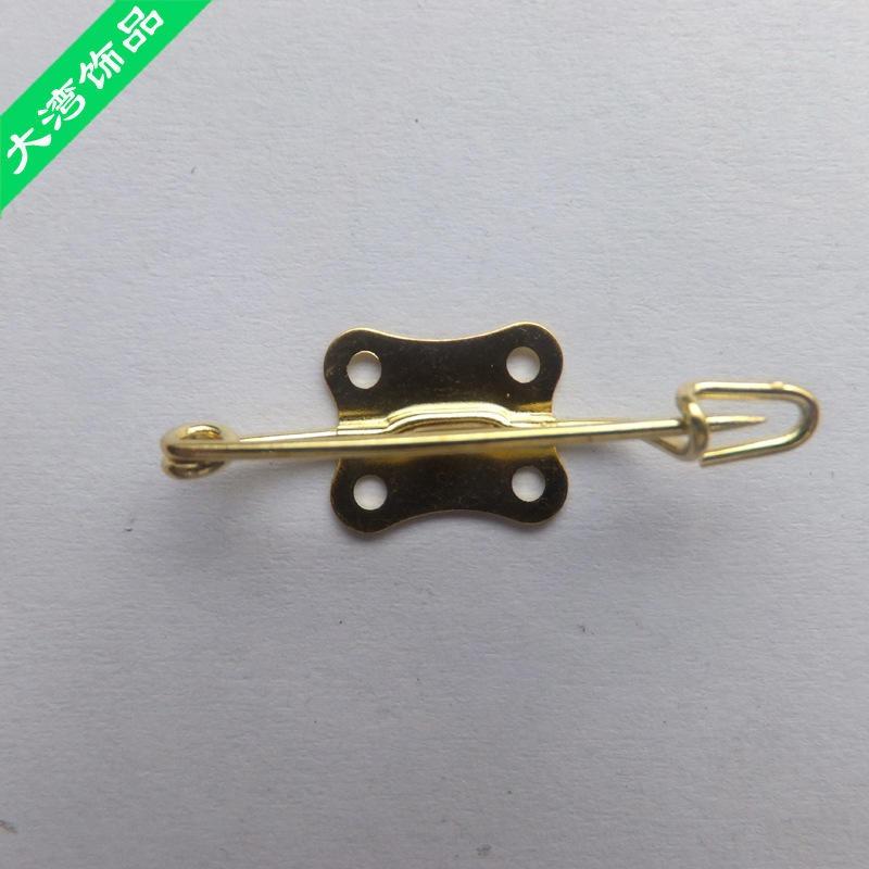 德式別針生產供應各款長嘴別針 帶底座長咀扣針 服飾胸針定制批發