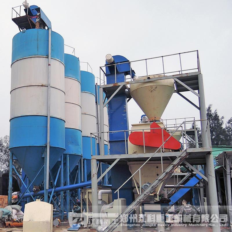 郑州江科重工 预拌砂浆搅拌站 小型预拌砂浆生产线  2-3人就可生产,产量高单批搅拌1-2吨,日产量可达50吨