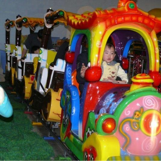 大洋公园游乐场游乐设备儿童轨道小火车 卡通轨道火车深受小朋友喜爱