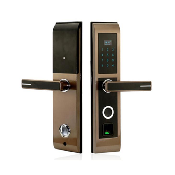 支持OEM 新款感應刷卡指紋鎖 家用指紋密碼鎖 防盜門電子密碼鎖 刷卡密碼鎖