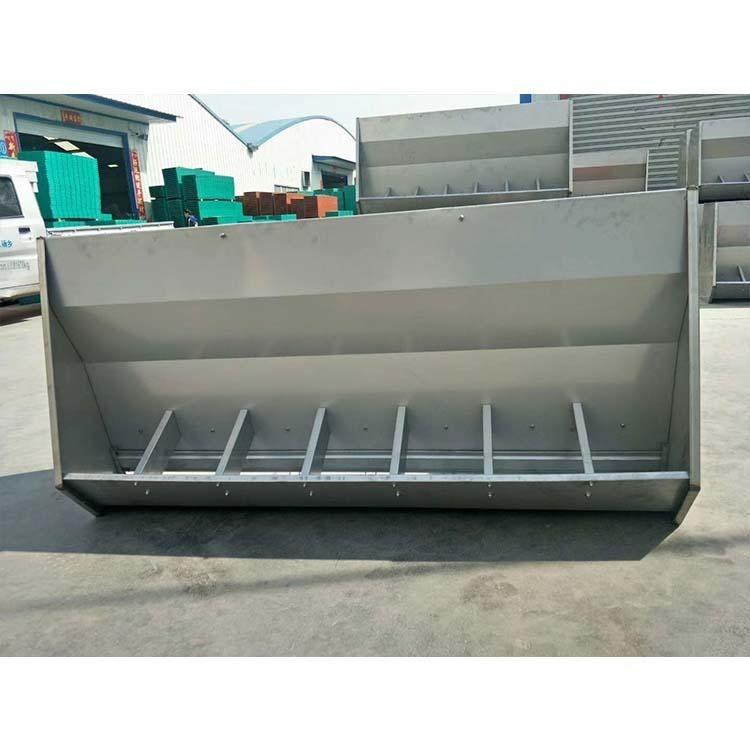 1.8米不銹鋼料槽批發 不銹鋼料槽廠家 單雙面不銹鋼料槽 吉星農牧 質量保證