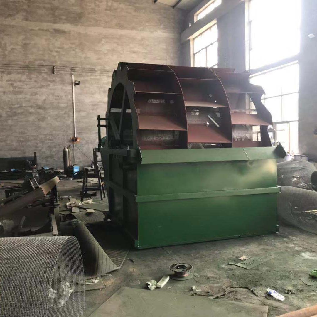 中言机械 洗沙机厂家直销 双槽洗沙机 轮斗式洗沙机流水线