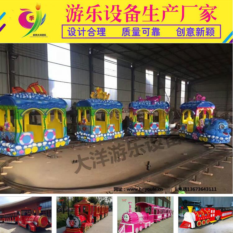 2020仿古观光火车儿童游乐设备 郑州无轨观光火车大洋生产厂家直销游艺设施示例图9