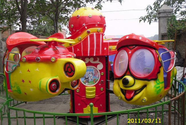 4臂笑脸升降飞机儿童游乐设备 大洋儿童游乐园新款大眼飞机项目示例图5