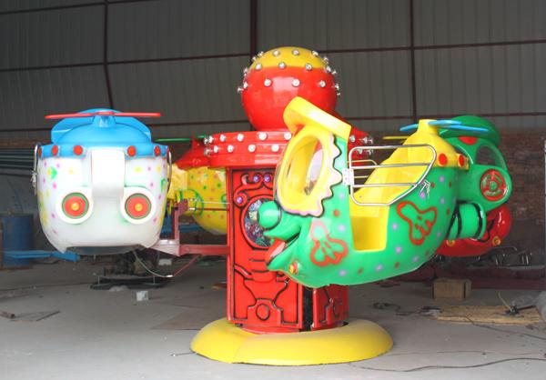 2020现货供应广场4座笑脸升降飞机 销售火爆大洋小型大眼飞机报价儿童游艺设施厂家游乐设备示例图3