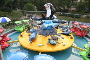 郑州大洋2020重磅推出新款6臂激战鲨鱼岛 亲子互动大型游乐激战鲨鱼岛游乐设备场地游艺设备示例图16