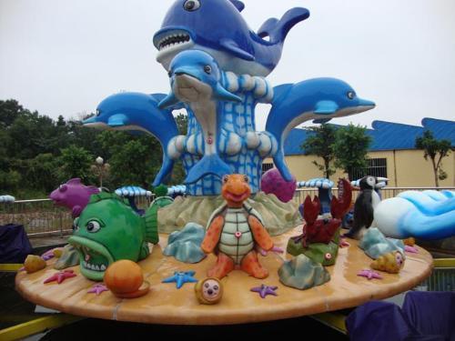 欢乐海洋儿童游乐设备 厂家直销全新玻璃钢装饰8臂欢乐海洋岛示例图12