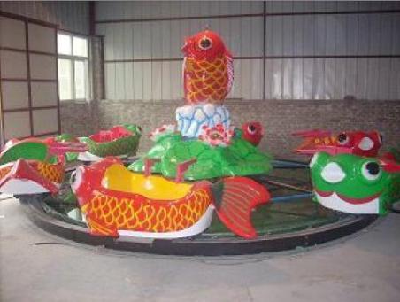 2020  室内儿童游乐设备8臂鲤鱼跳龙门 郑州大洋鲤鱼跳龙门现货供应游艺设施厂家示例图4