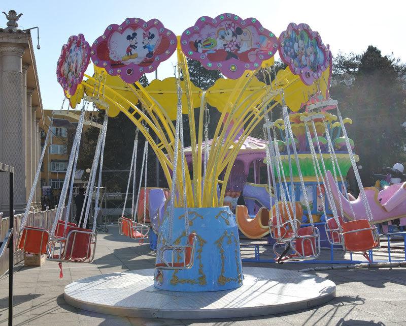 儿童12座迷你飞椅游乐设备 旋转飞椅大洋游乐厂家专业定制生产示例图3