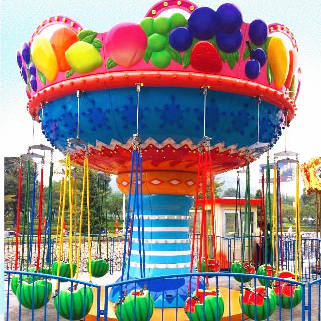儿童游乐场游乐设备西瓜飞椅_16座旋转水果飞椅_郑州大洋水果旋风示例图2