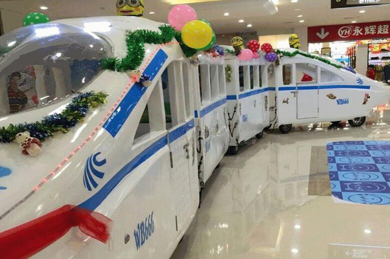 2020福建龙岩客户的和谐号观光小火车正式运营了 专业定制无轨和谐号游艺设施厂家示例图4
