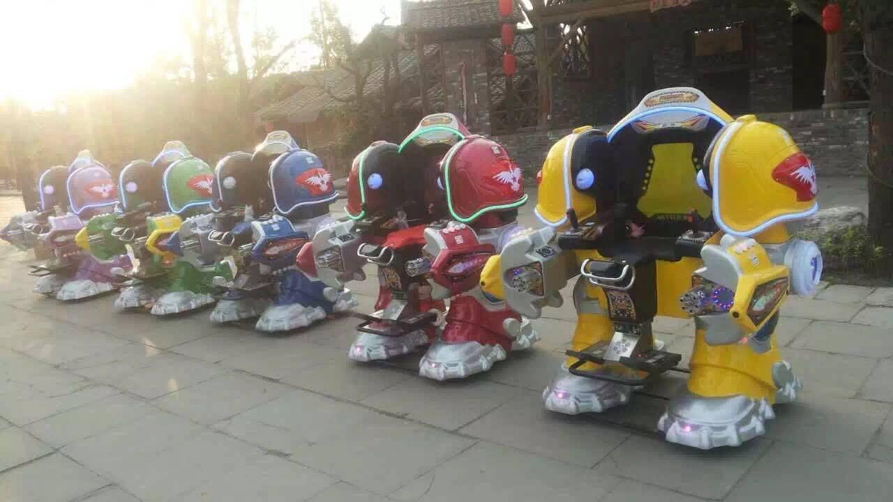 大洋广场小投资项目机器人战火金刚游乐设备 广场行走可乐侠机器人示例图4