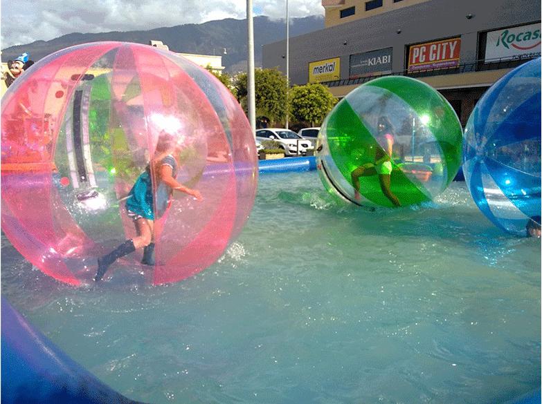 儿童游乐设备水上步行球 厂家批发 大洋现货供应彩色水上步行球项目游艺设施示例图4