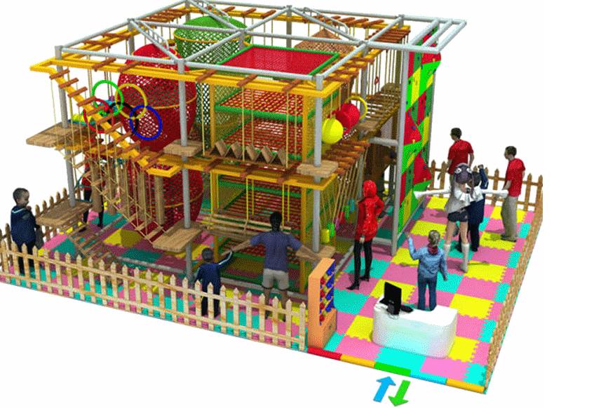 儿童拓展小型游乐设备,专业定制室内两层三层豪华儿童拓展训练大洋游艺设施厂家示例图4