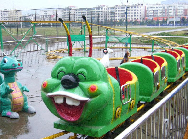 2020惊险刺激公园儿童游乐设备轨道果虫滑车 果虫滑车厂家直销现货供应大洋儿童游艺设施厂家示例图4