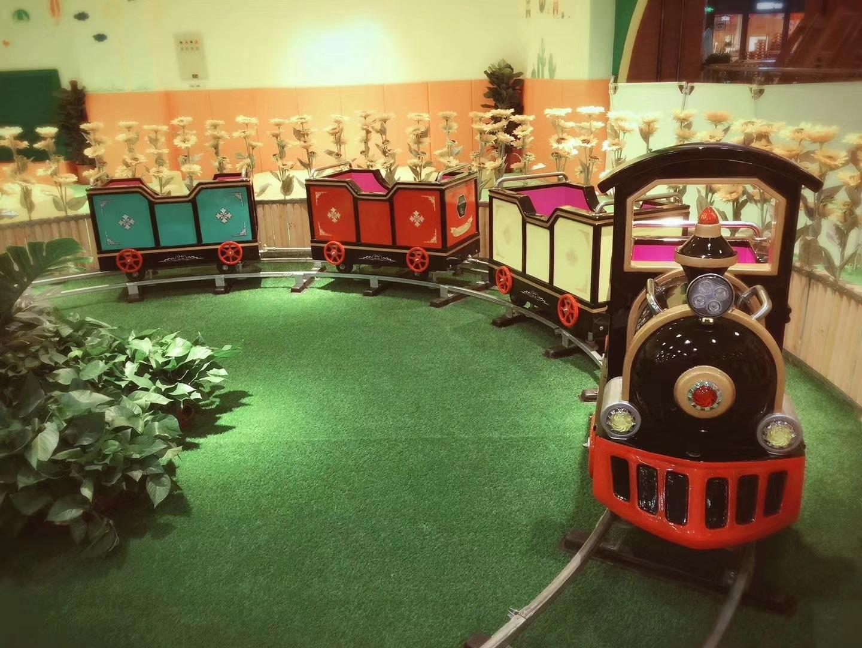 十一现货供应 轨道小火车 精品推荐卡通轨道火车儿童游乐设备示例图12