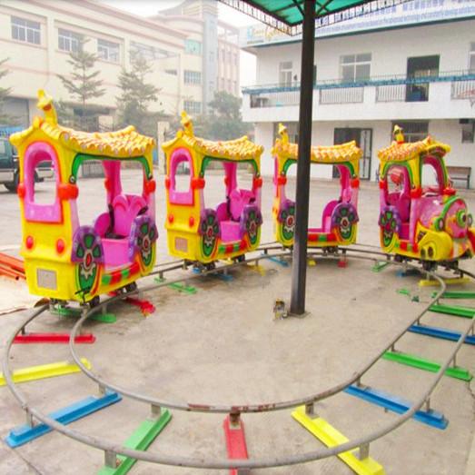 公园户外儿童游乐轨道小火车 迎十一现货供应轨道火车游乐项目示例图9