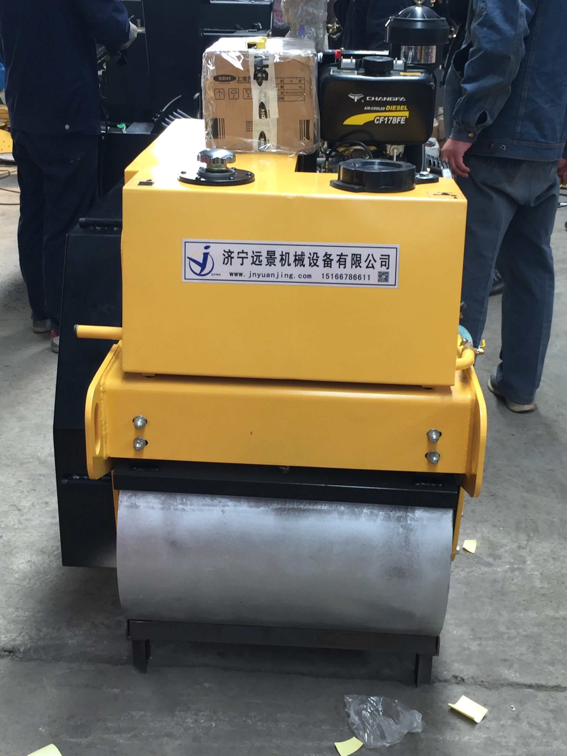 远景机械热销重型单轮压路机 加重款YJ730柴油压路机 手扶式压路机 小型压路机示例图11