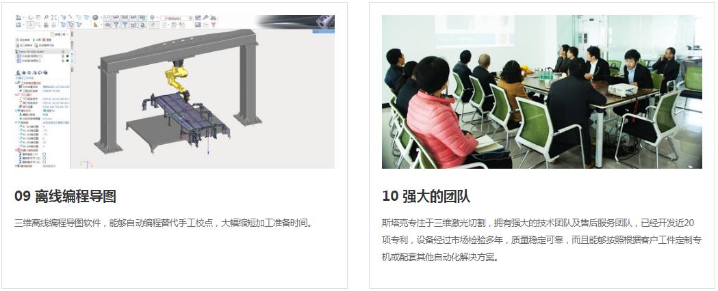 激光切割機 斯塔克激光品質保障 STK工業機器人三維激光切割機示例圖6