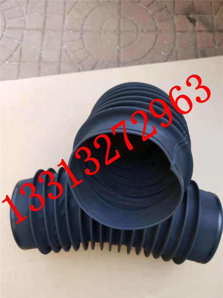 圆筒伸缩式丝杠防护罩 油缸圆形防尘罩 气缸光轴保护套 伸缩式圆形防护罩可以水平或垂直使用示例图1