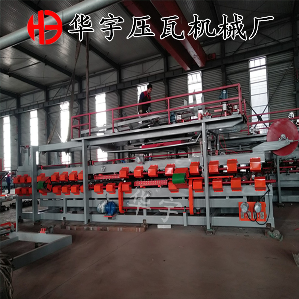 华宇全自动复合板机 岩棉夹心板生产设备 180mm胶轴岩棉机 彩钢复合板生产线示例图7