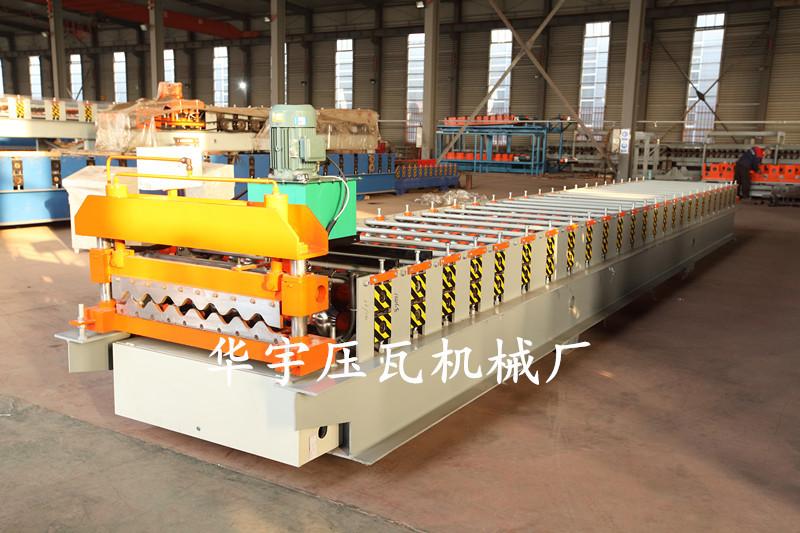 华宇压瓦机供应780横挂板机 大圆弧压瓦机 彩钢墙板成型设备示例图12