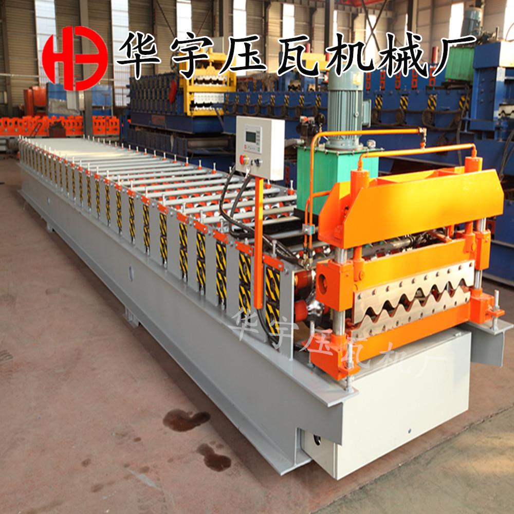 华宇压瓦机供应780横挂板机 大圆弧压瓦机 彩钢墙板成型设备示例图11